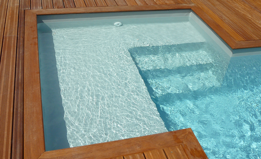 R alisations techneau piscine for Piscine avec liner blanc